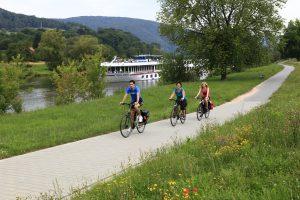 Radfahrer in Freudenberg Blicklokal