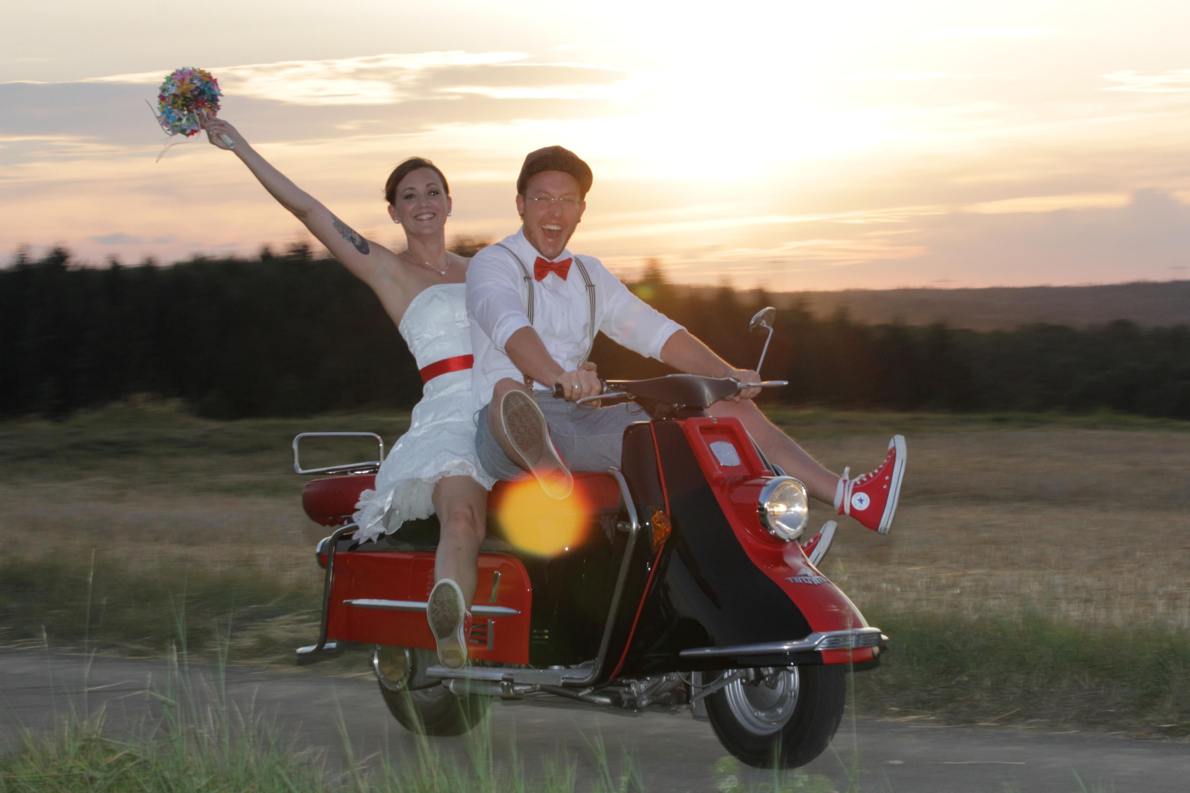 Blicklokal Brautpaar Dorothée Popp & Stephan Noe Standesamtliche Trauung: 01.08.2015 Buchen