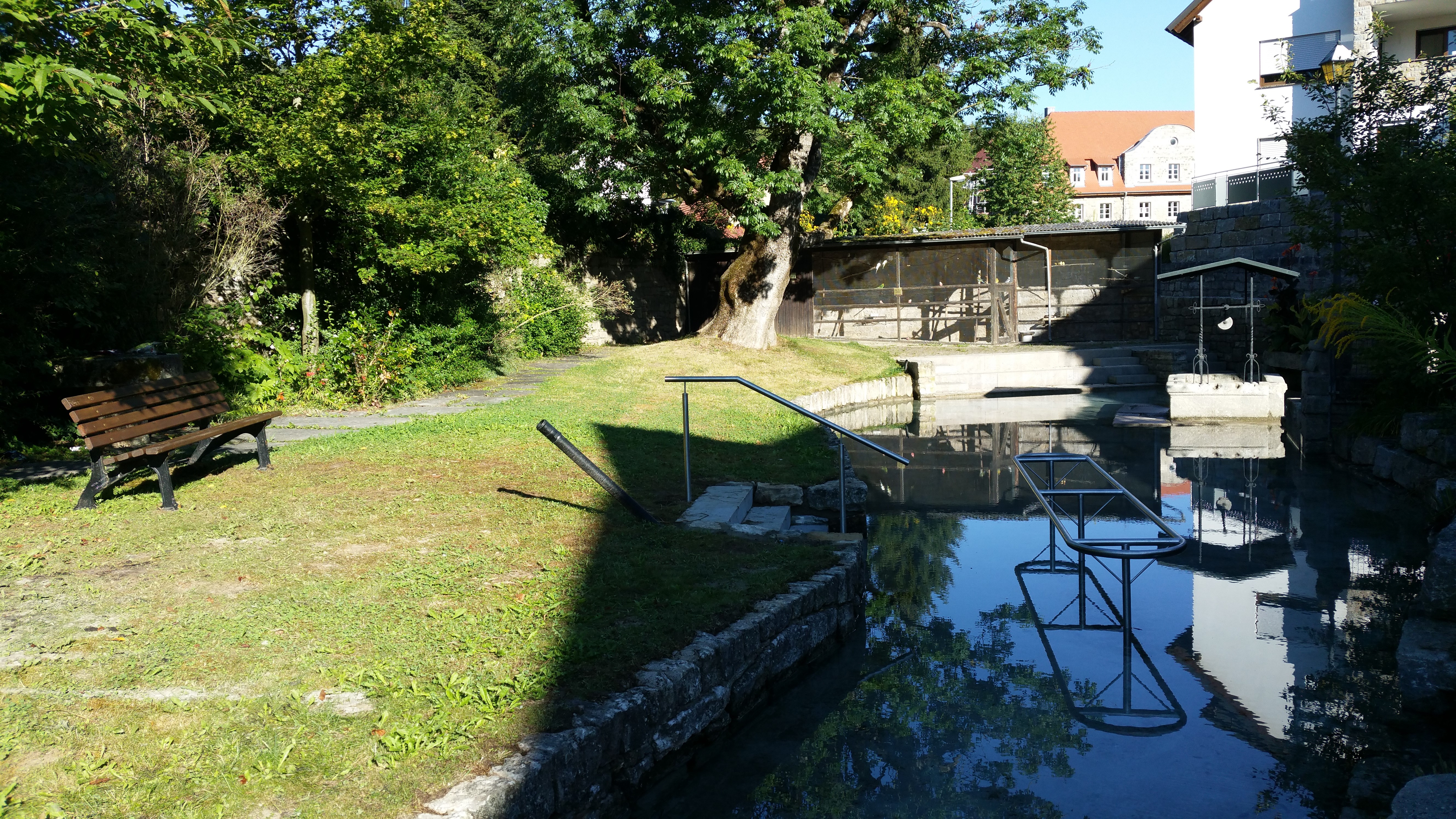 Günsfeld, Stadtbrunnen, Kneipp, Umbau